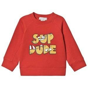 Stella McCartney Kids Sup Dude Sweatshirt Red 4 years