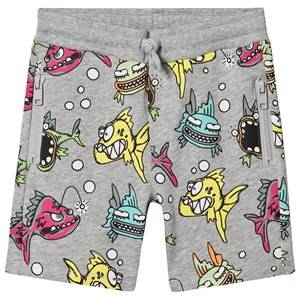Stella McCartney Kids Piranha Sweat Shorts Grey 4 years
