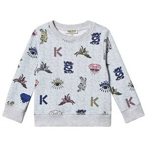 Kenzo Disco Jungle Sweatshirt Light Marl Grey 6 years