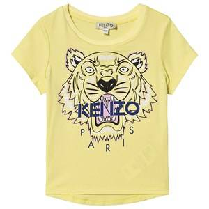 Kenzo Tiger Logo Tee Lemon 4 years