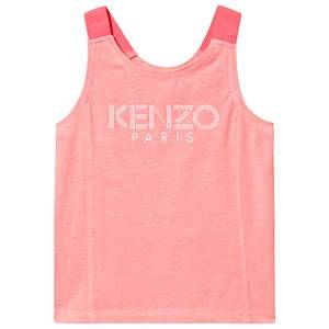 Image of Kenzo Logo Tank Top Neon Pink 2 years