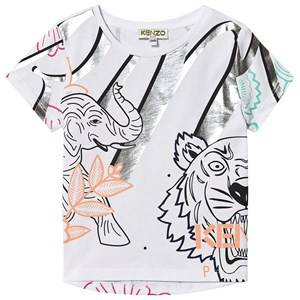Kenzo Allover Logo Tee Optic White 6 years