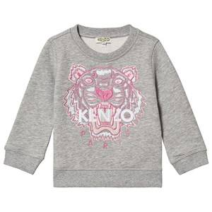 Kenzo Embroidered Tiger Logo Sweatshirt Marl Grey 14 years