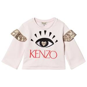 Kenzo Embroidered Eye Logo Sweatshirt Light Pink 12 years