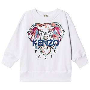 Kenzo Embroidered Elephant Logo Sweatshirt Optic White 3 years