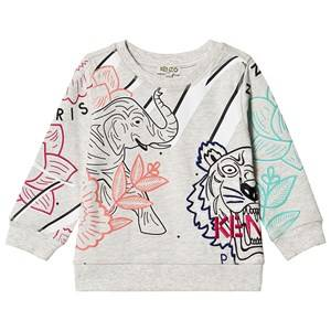 Kenzo Allover Logo Sweatshirt Light Marl Grey 3 years