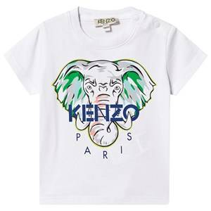 Kenzo Elephant Logo Baby Tee Optic White 6 months