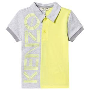 Kenzo Logo Polo Light Marl Grey 6 years