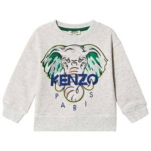 Kenzo Embroidered Elephant Logo Sweatshirt Light Marl Grey 8 years