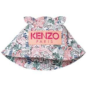 Kenzo Logo Bucket Hat Optic White/Pink Sun hats