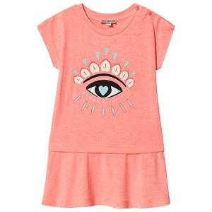 Kenzo Eye Logo Sweat Dress Neon Pink 4 years