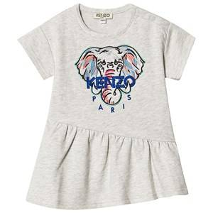 Kenzo Embroidered Elephant Logo Dress Light Marl Grey 6 months