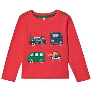 Tom Joule Chomp Dino Cars Tee Red 6 years