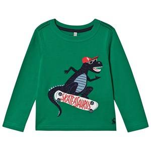 Tom Joule Skater Dino Tee Green 3 years