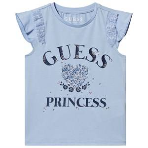 Guess Guess Princess Frill Sleeve T-Shirt Pale Blue 2 years