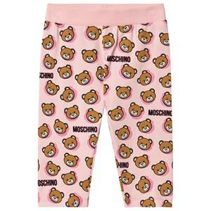 Image of Moschino Kid-Teen Allover Logo Leggings Pink 9-12 months