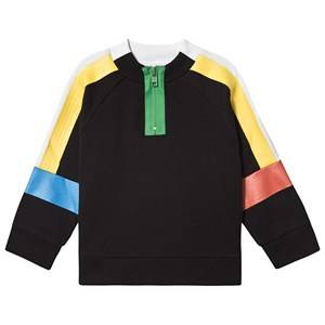 Stella McCartney Kids Sport Color Block Half Zip Sweatshirt Black 8 years