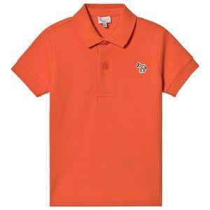 Image of Paul Smith Junior Ridley Pique Polo Shirt Orangeade 16 years
