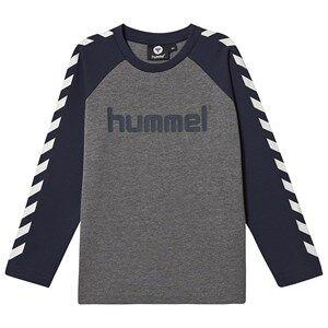 Hummel Long Sleeved Tee Black Iris 110 cm (4-5 Years)