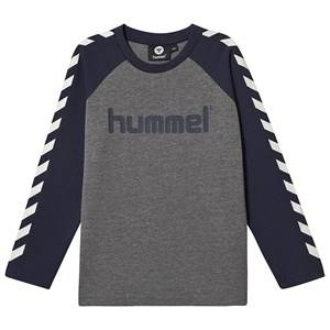 Image of Hummel Long Sleeved Tee Black Iris 128 cm (7-8 Years)