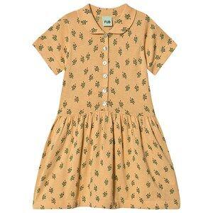 FUB Leaf Dress Yellow 130 cm (7-8 Years)