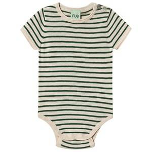 Image of FUB Baby Body Ecru/Forest 62 cm (2-4 Months)