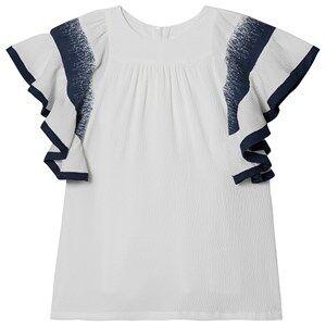 Image of Chlo Ruffled Sleeve Dress White 4 years