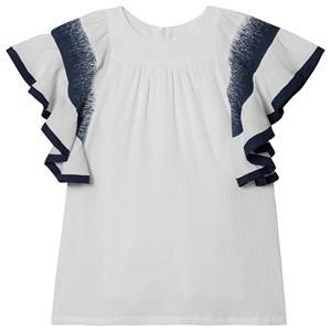 Image of Chlo Ruffled Sleeve Dress White 12 years