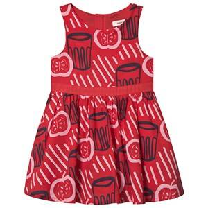 Catimini Apple Print Dress Red/Navy 5 years