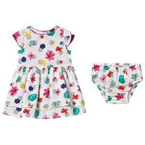 Image of Catimini Floral Print Dress with Bloomers White 9 months