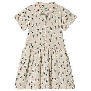 FUB Leaf Dress Ecru 90 cm (1,5-2 Years)
