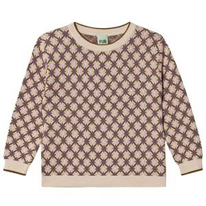 FUB Jacquard Sweater Ecru/Sienna 110 cm (4-5 Years)