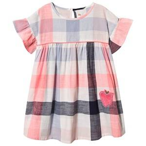 Image of Billieblush Check Dress with Sequin Apple Pink/Blue/White 3 years