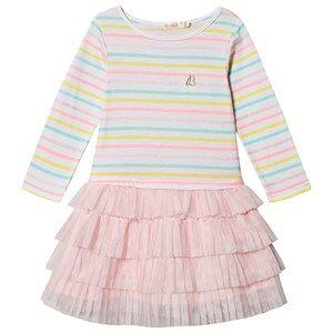 Image of Billieblush Stripe Tulle Skirt Dress Pink/Multi 12 years