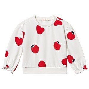 Image of Billieblush Apple Sweatshirt with Elasticated Cuff White 6 years