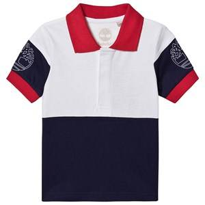 Timberland Color Block Branded Polo Shirt Navy/White 8 years