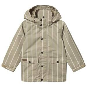 Kuling Stockholm Shell Jacket Sandy Beige Stripe Shell jackets