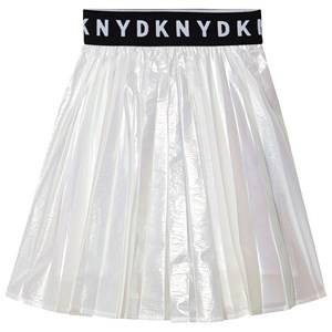 DKNY Iridescent Logo Skirt Silver 14 years