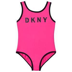 DKNY Logo Swimsuit Pink 4 years
