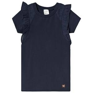 Image of Carrment Beau Anglaise Embroidered Dress Navy 2 years