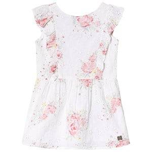 Image of Carrment Beau Anglaise Embroidery Floral Print Dress White 2 years