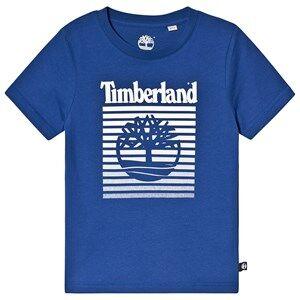 Timberland Timberland and Tree Fading Logo Tee Blue 8 years