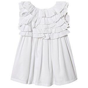 Image of Billieblush Layered Top Dress White/Silver 3 years