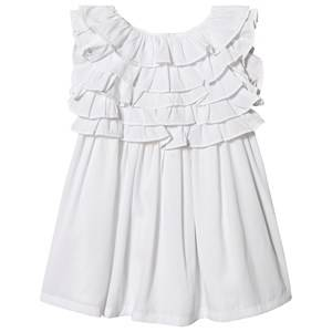 Image of Billieblush Layered Top Dress White/Silver 8 years