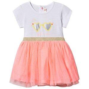 Image of Billieblush Sunglasses Tulle Dress White/Fluorescent Pink 9 months