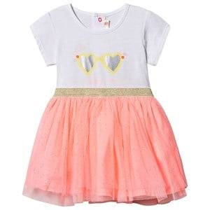 Image of Billieblush Sunglasses Tulle Dress White/Fluorescent Pink 2 years