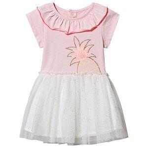 Image of Billieblush Pineapple Tulle Dress Pink/White 12 months