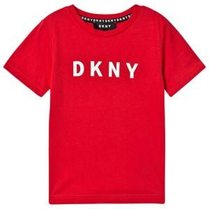 DKNY Logo Tee Red 6 years