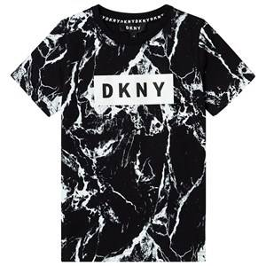 DKNY Rubberized Logo Tee Black Marble 6 years