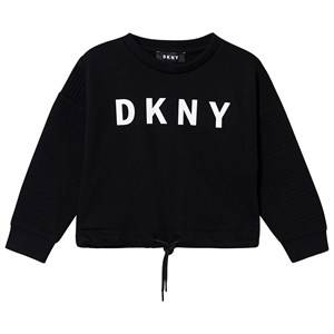 DKNY Logo Tie Sweatshirt Black 10 years